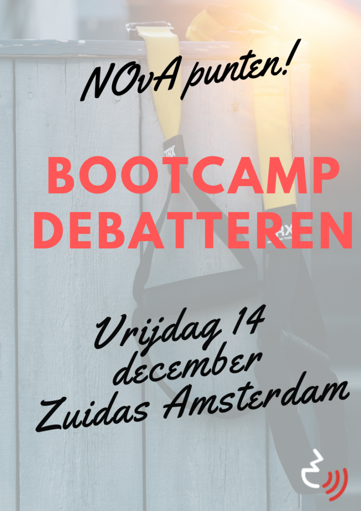 Genoeg NOvA punten? Schrijf je in voor Bootcamp Debatteren