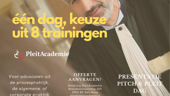 Pleit-, Pitch- en Presentatiedag – Keuze uit menu van 8 trainingen