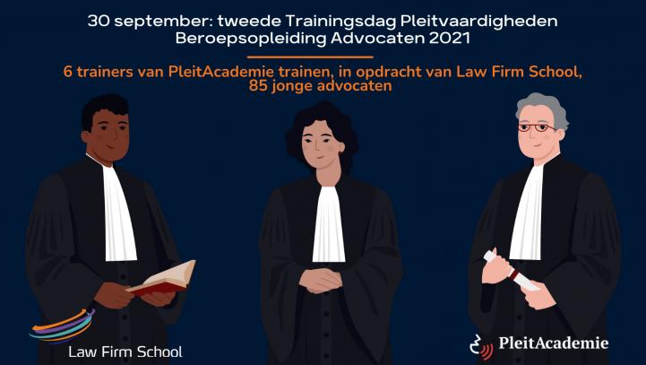 PleitAcademie en Law Firm School werken samen bij vaardighedentraining Beroepsopleiding Advocaten